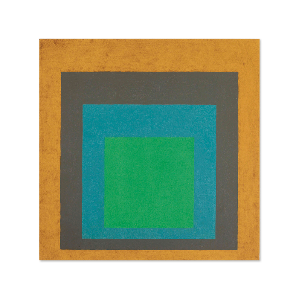 조셉 앨버스 JOSEF ALBERS 002 Homage to the Square- Last Year signed with the artist's monogram and dated 'A 64'